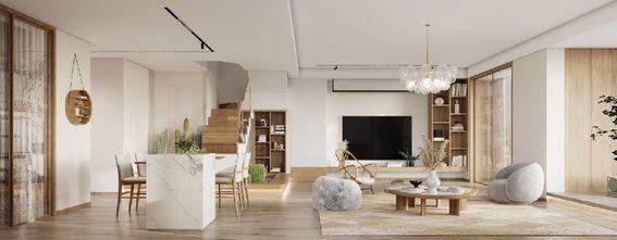 130平米三日式风格客厅图