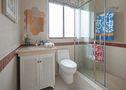 富裕型90平米三室两厅田园风格卫生间图