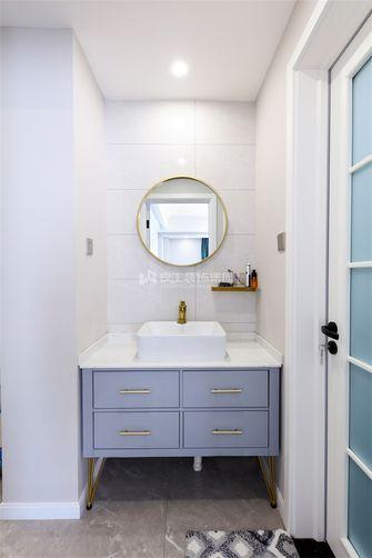 80平米三室两厅现代简约风格卫生间图