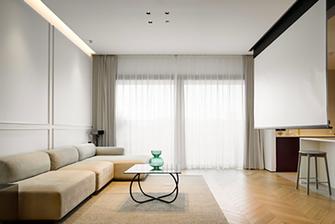 130平米三日式风格客厅装修效果图