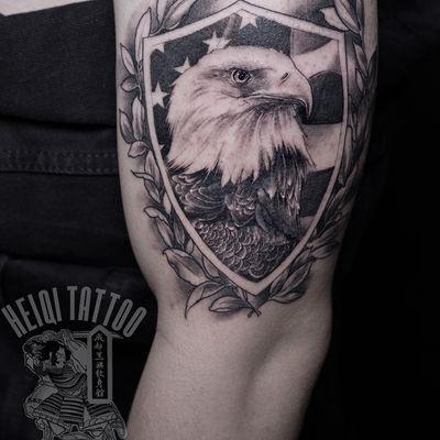 白头鹰纹身图