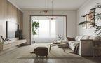 3-5万80平米三室三厅日式风格客厅装修案例