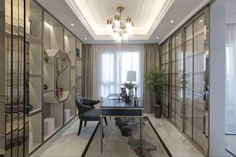 130平米三室两厅法式风格书房效果图
