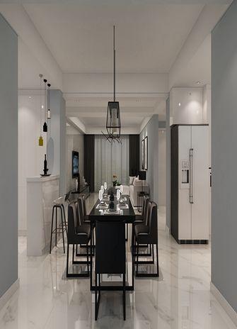 120平米三室一厅现代简约风格餐厅效果图