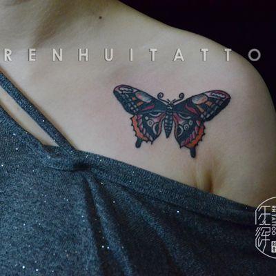 作品--蝴蝶纹身图