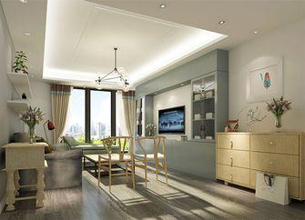 80平米现代简约风格客厅家具装修图片大全