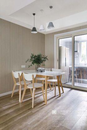140平米三室兩廳北歐風格餐廳圖片