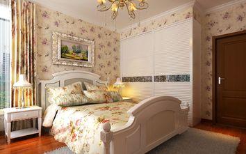 20万以上120平米四室一厅田园风格卧室欣赏图