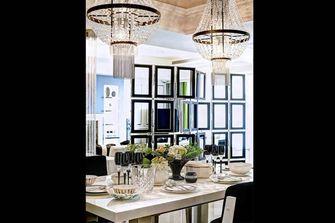 120平米三室一厅新古典风格餐厅图片