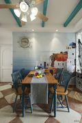 90平米地中海风格餐厅背景墙装修图片大全