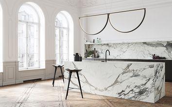 100平米一居室法式风格厨房图