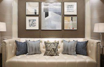 110平米三室一厅新古典风格客厅装修案例