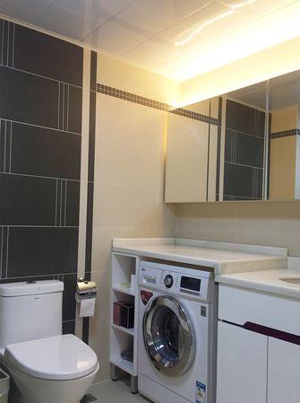 80平米现代简约风格卫生间浴室柜设计图