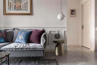 80平米一居室法式风格客厅图片大全