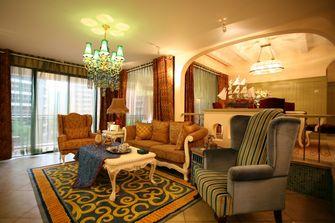 140平米三室三厅地中海风格客厅图片大全