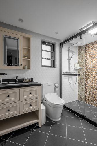 富裕型100平米三室三厅美式风格卫生间图片