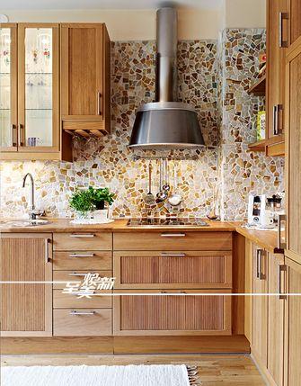 60平米三室一厅田园风格厨房装修案例