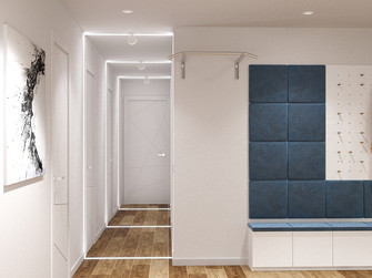 80平米三室一厅现代简约风格玄关装修效果图