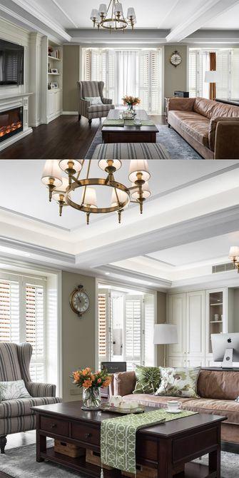 100平米三室一厅美式风格客厅装修效果图