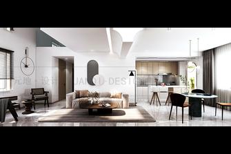 20万以上120平米复式现代简约风格客厅欣赏图