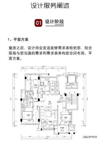 富裕型110平米三室一厅现代简约风格客厅图片大全