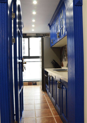 110平米三室两厅地中海风格厨房图片