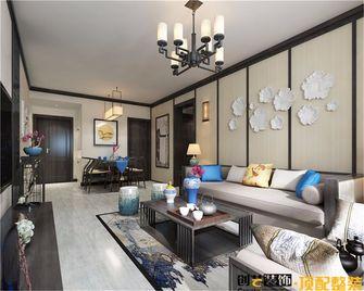 80平米三中式风格客厅图片