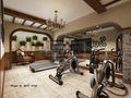 140平米别墅田园风格健身室装修图片大全