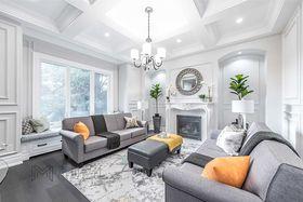 140平米別墅歐式風格客廳設計圖