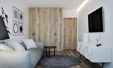 60平米一室两厅宜家风格客厅图