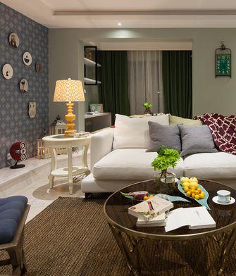 90平米三室一厅混搭风格客厅欣赏图