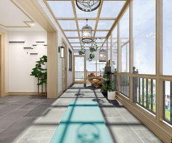 140平米三室两厅欧式风格阳台效果图