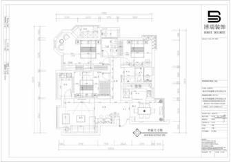 富裕型120平米三室两厅混搭风格客厅效果图