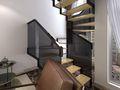 130平米复式现代简约风格楼梯图片大全