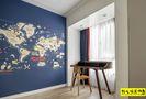 140平米四室一厅北欧风格书房图片
