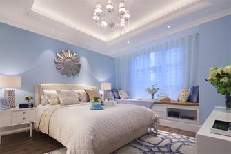 110平米三室两厅美式风格卧室飘窗欣赏图