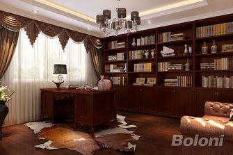 140平米三室两厅新古典风格书房图
