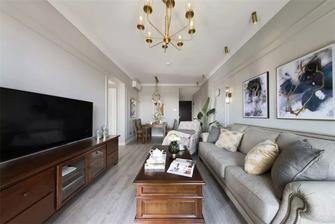 90平米美式风格客厅欣赏图