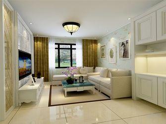 50平米一室一厅田园风格客厅设计图