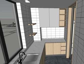 140平米四宜家风格厨房装修图片大全