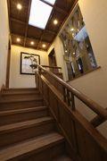 140平米别墅田园风格楼梯图