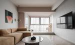 120平米三室一厅现代简约风格客厅设计图
