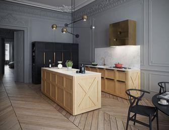 70平米一居室英伦风格厨房图片