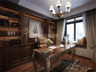 120平米三室两厅美式风格书房图片大全