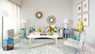 90平米三室两厅新古典风格客厅效果图