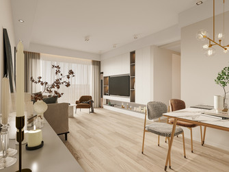 110平米三室两厅日式风格餐厅装修案例