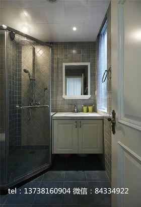10-15万80平米三室一厅美式风格卫生间装修图片大全