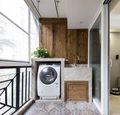 100平米三室两厅东南亚风格阳台图