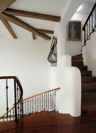 经济型140平米别墅田园风格楼梯装修案例