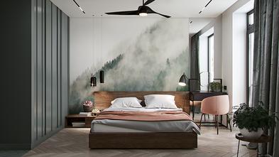 60平米一室一厅宜家风格卧室图